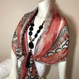 CHICO'S Scarf Tribal Pattern Long